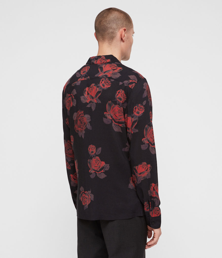 Uomo Camicia Thorn (jet_black_red) - Image 4