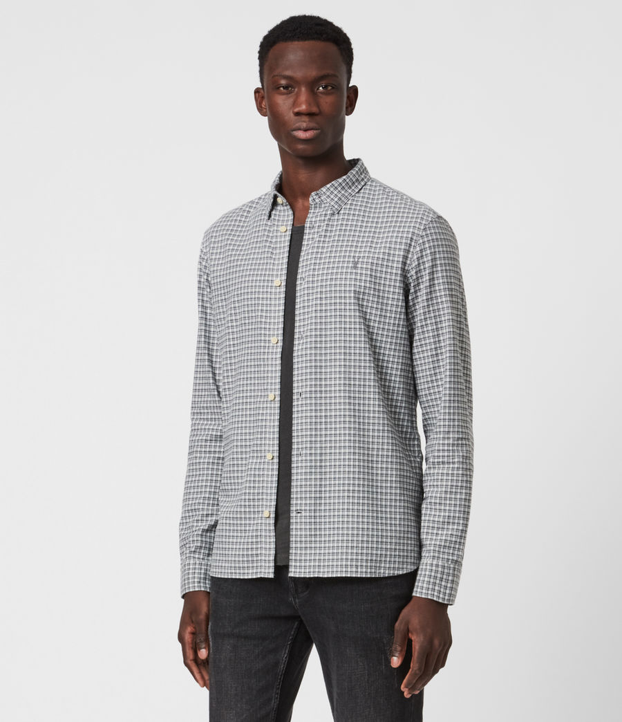 Men's Kiosk Shirt (ecru_grey) - Image 1