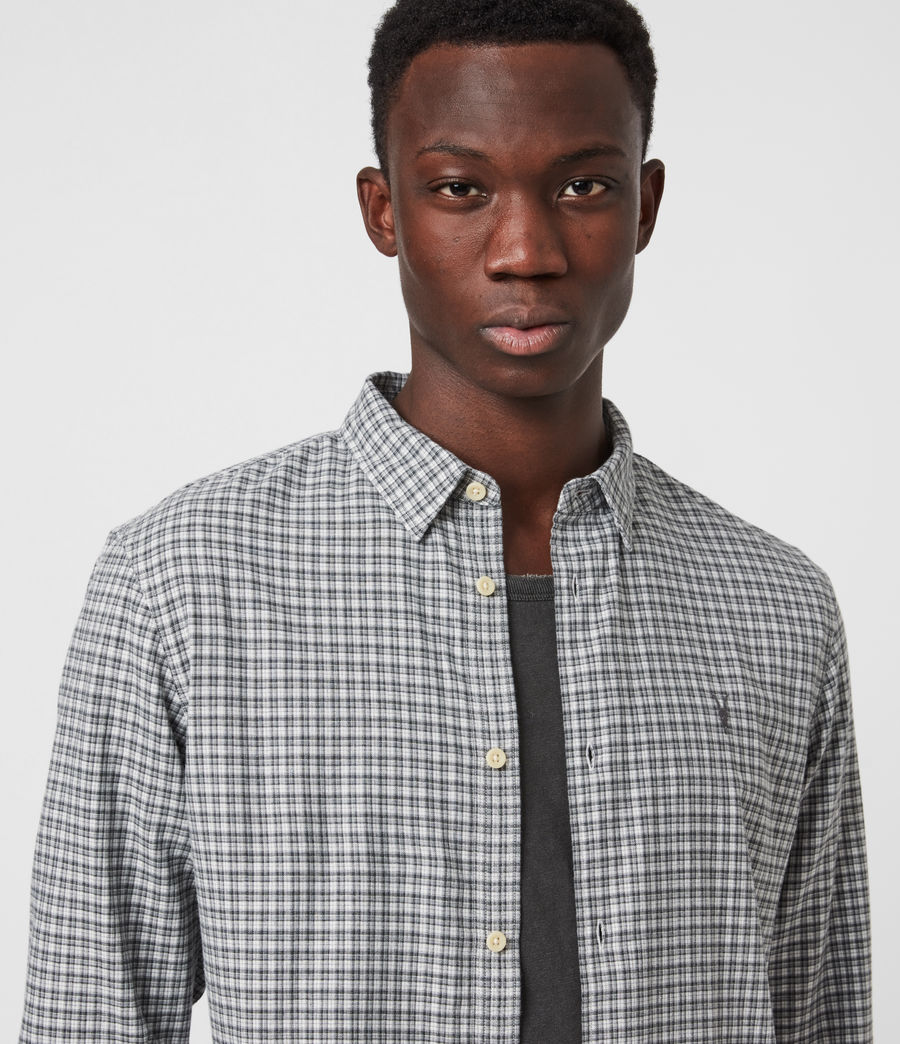 Men's Kiosk Shirt (ecru_grey) - Image 4