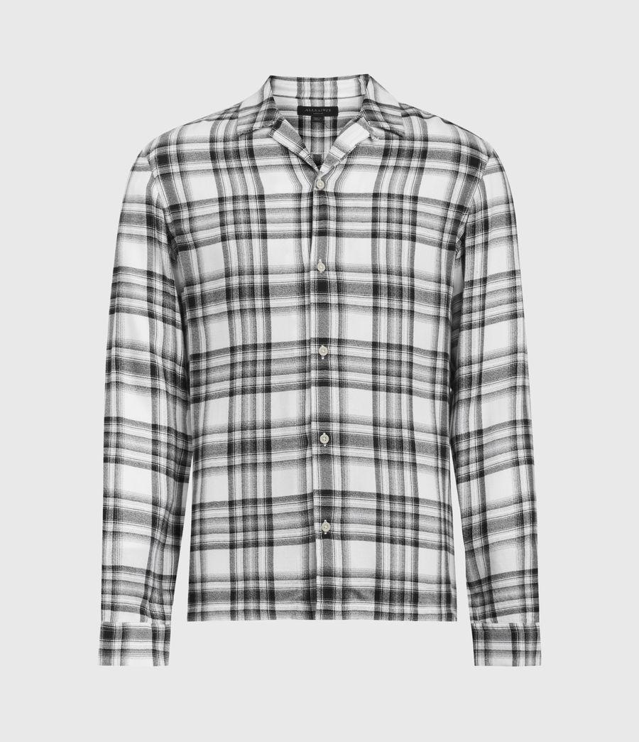 Hommes Chemise à Carreaux Easton (white_black) - Image 2