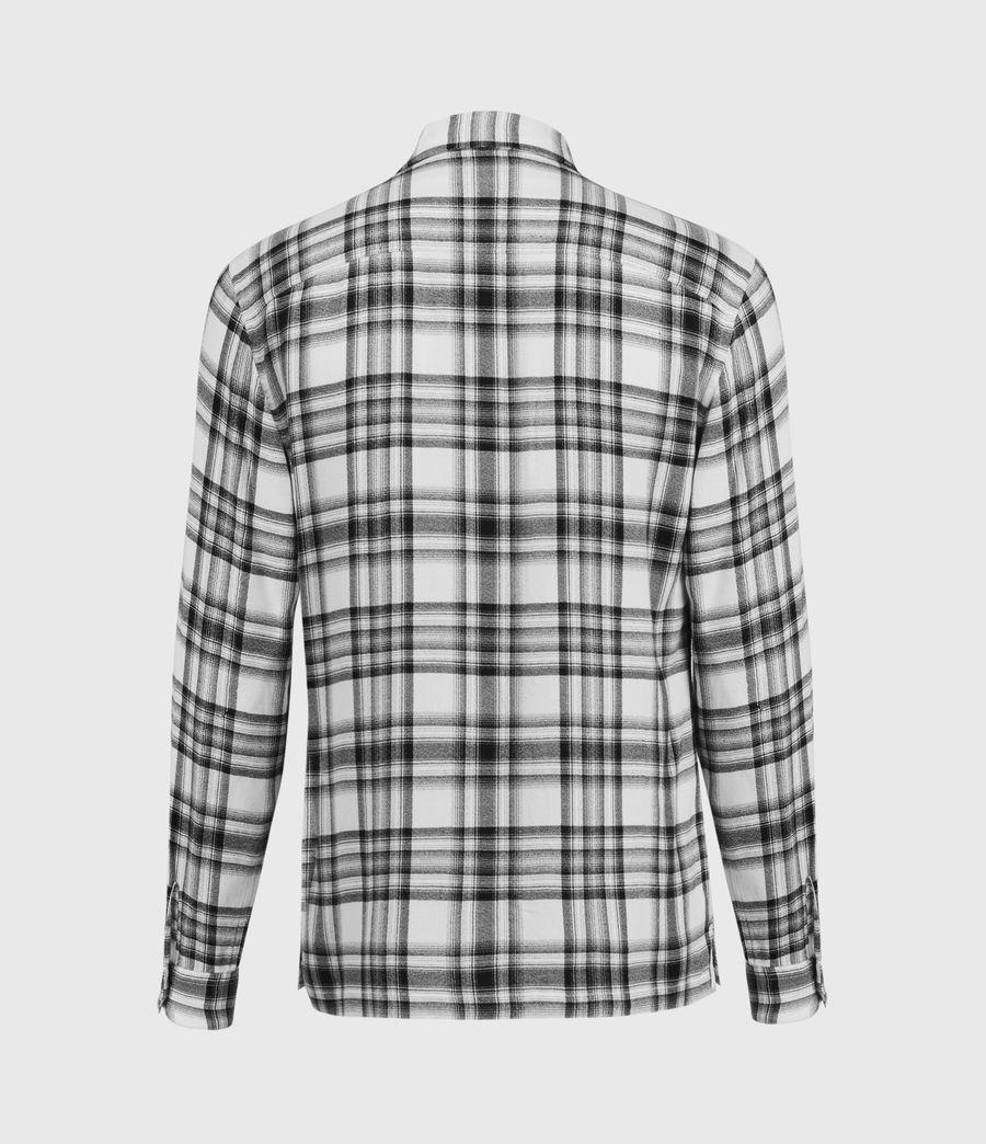 Hommes Chemise à Carreaux Easton (white_black) - Image 3