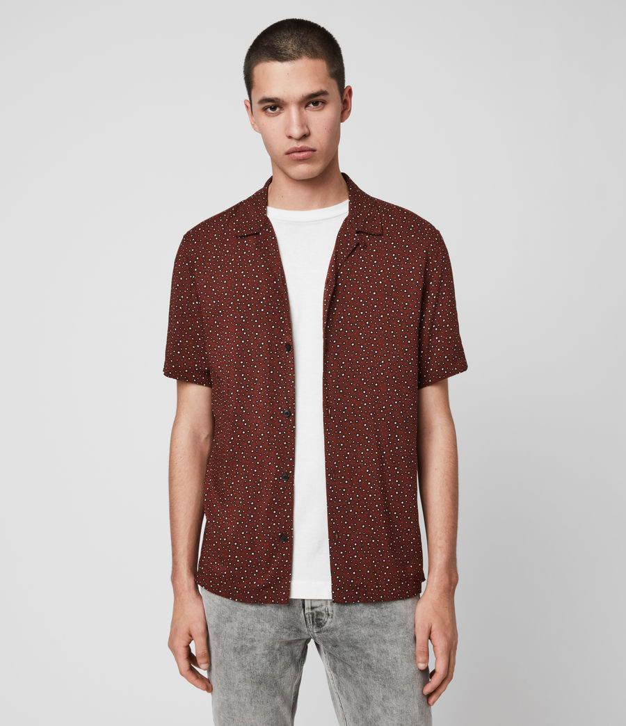 Hommes Chemise Manches Courtes Stellar (oxblood_red) - Image 1