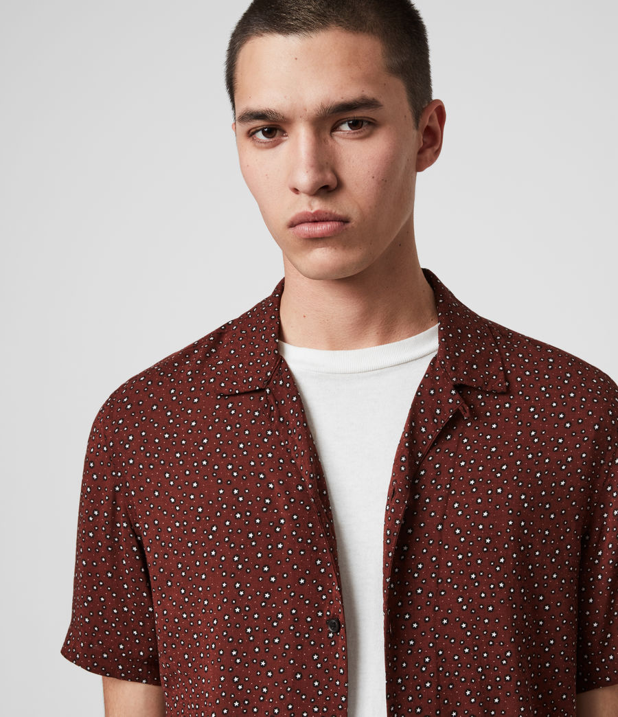 Hommes Chemise Manches Courtes Stellar (oxblood_red) - Image 2