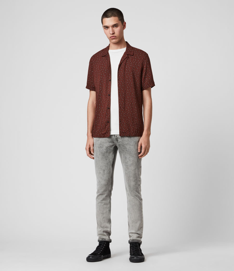 Hommes Chemise Manches Courtes Stellar (oxblood_red) - Image 3