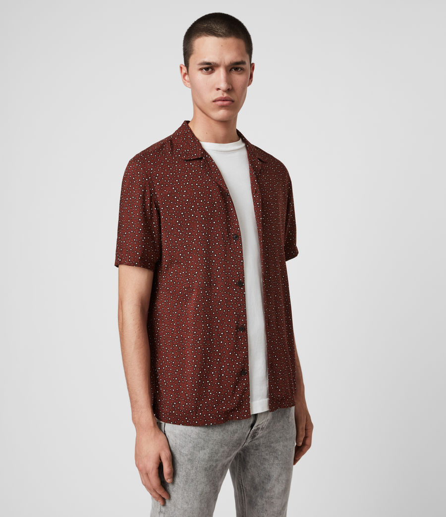 Hommes Chemise Manches Courtes Stellar (oxblood_red) - Image 4