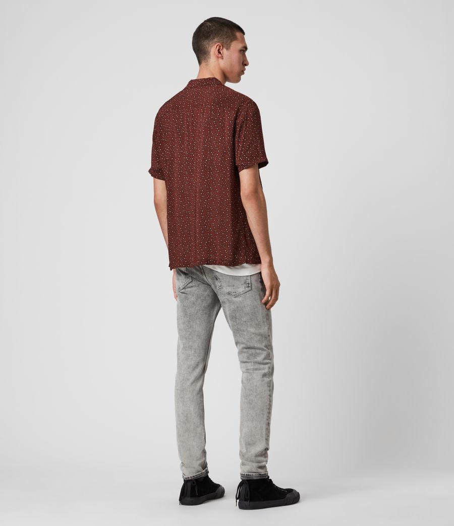 Men's Stellar Short Sleeve Shirt (oxblood_red) - Image 5
