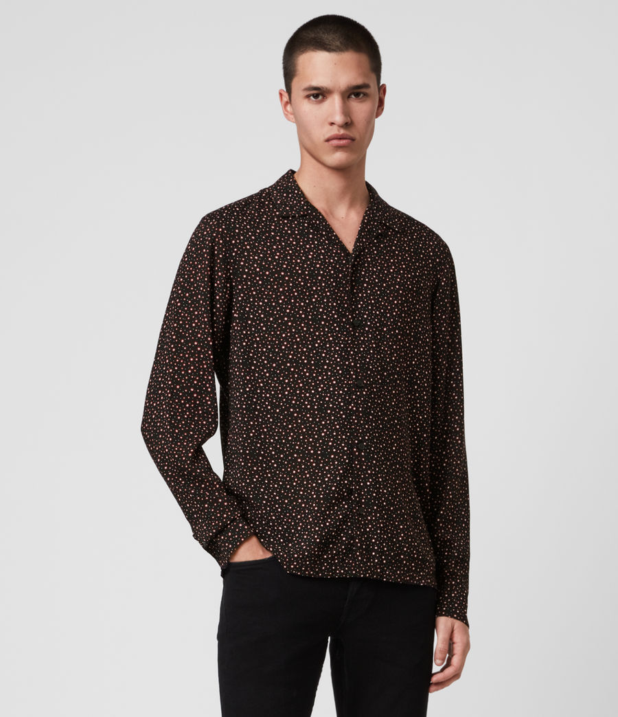 Mens Stellar Long Sleeve Shirt (jet_black) - Image 1