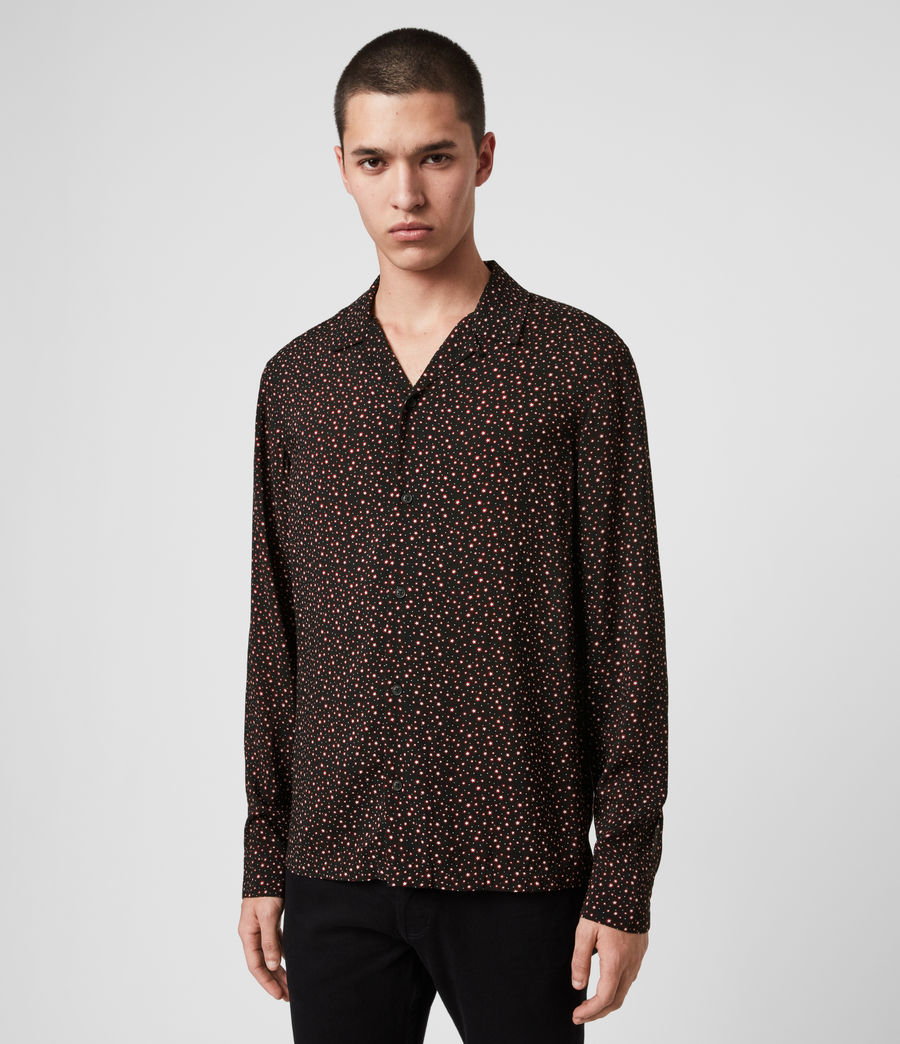 Mens Stellar Long Sleeve Shirt (jet_black) - Image 3