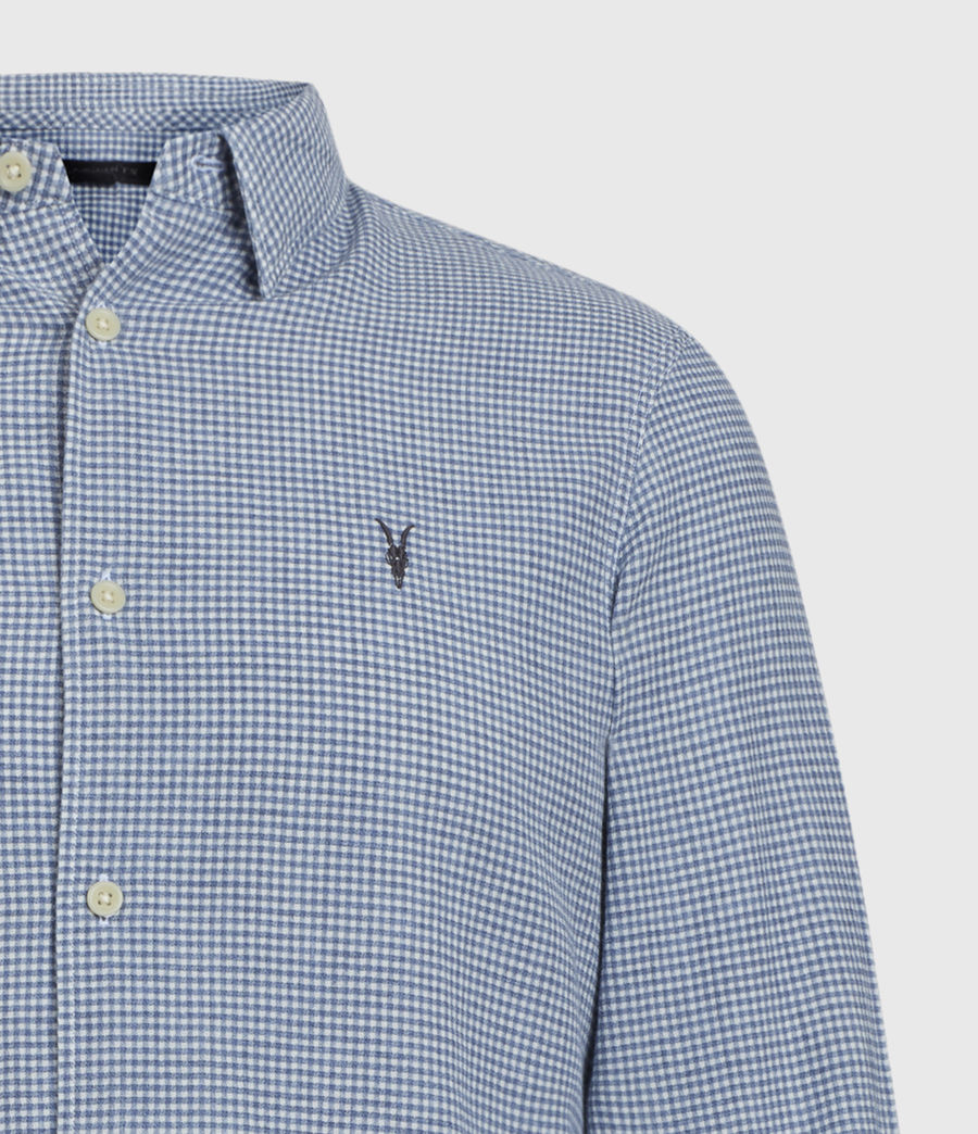 Men's Woodrow Shirt (blue_white) - Image 3