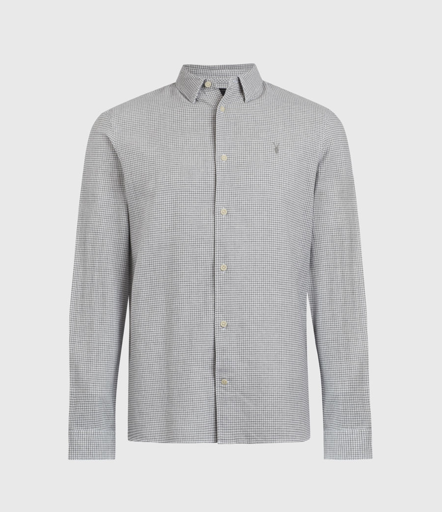 Hombres Woodrow Linen Blend Shirt (grey_white) - Image 1