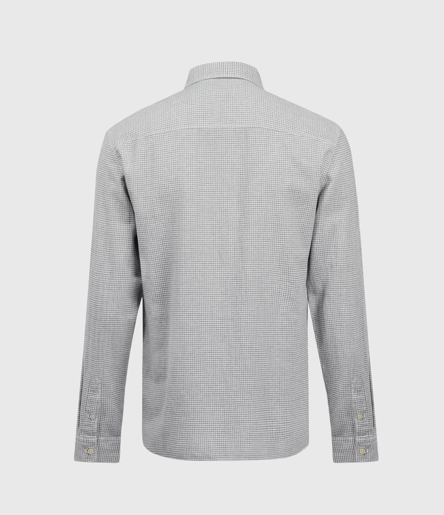 Hombres Woodrow Linen Blend Shirt (grey_white) - Image 2