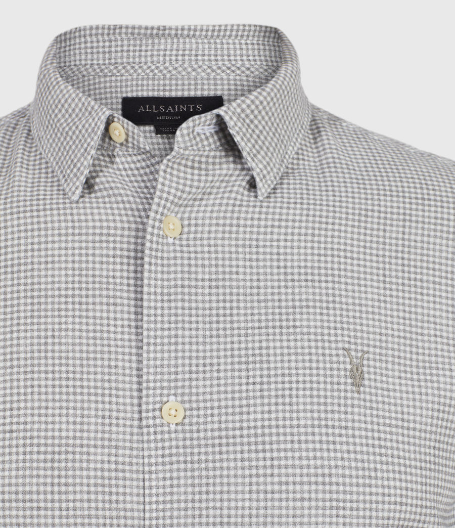 Hombres Woodrow Linen Blend Shirt (grey_white) - Image 3