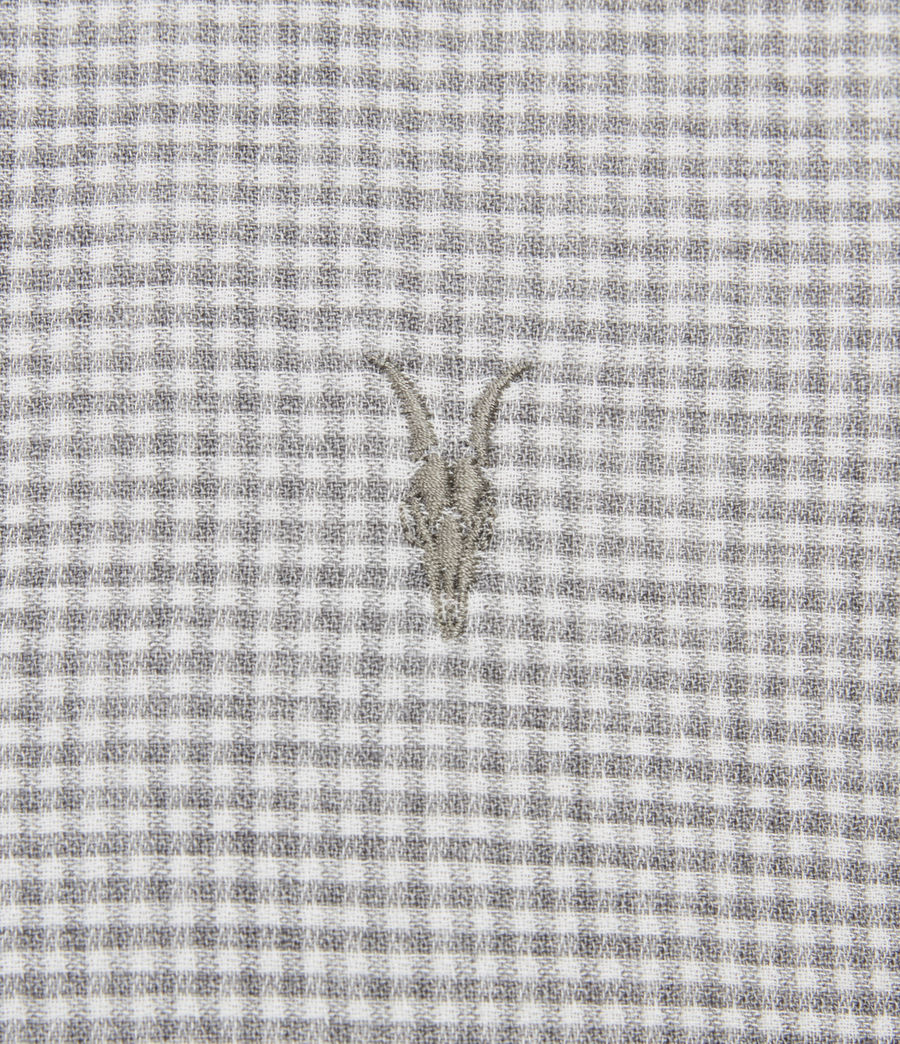 Hombres Woodrow Linen Blend Shirt (grey_white) - Image 4