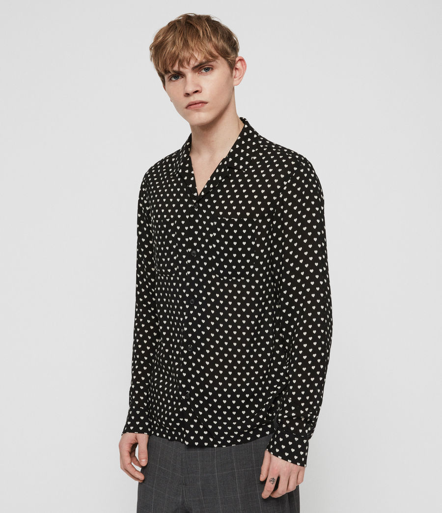 Men's Valentine Shirt (jet_black_ecru) - Image 2