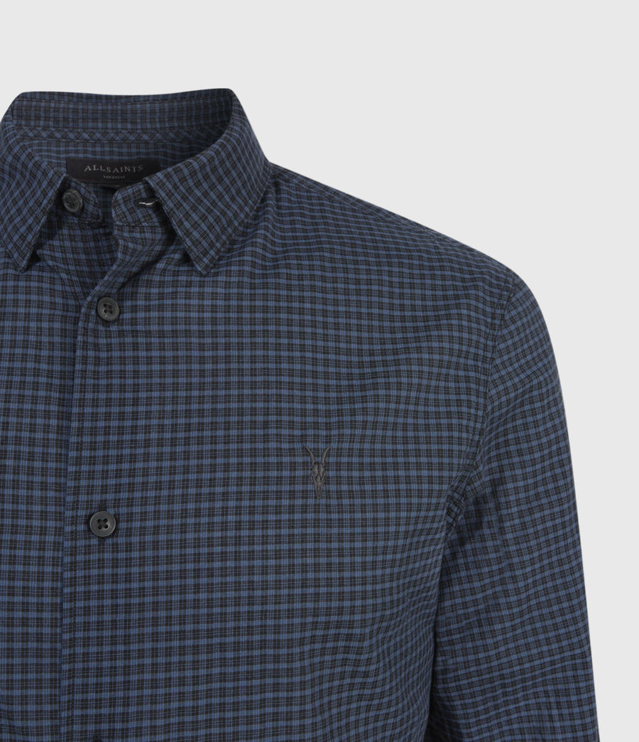 Men's Rosston Shirt (black_blue) - Image 3