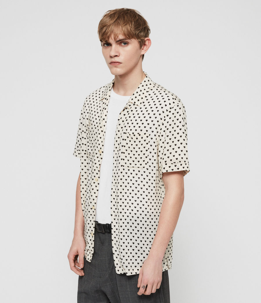 Men's Valentine Shirt (ecru_white_black) - Image 3
