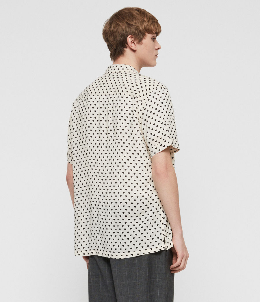 Men's Valentine Shirt (ecru_white_black) - Image 4