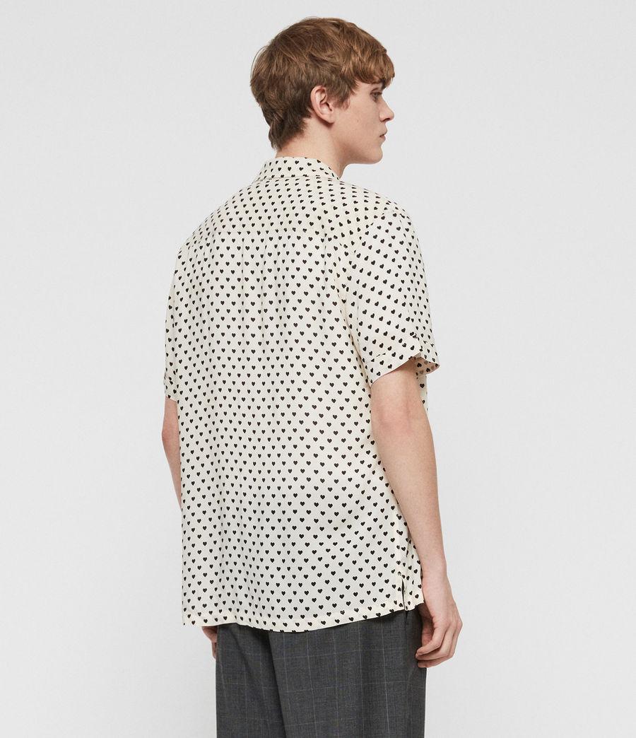 Uomo Camicia Valentine Maniche Corte (ecru_white_black) - Image 4