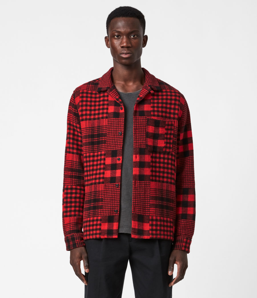 Mens Brucker Shirt (red_black) - Image 1