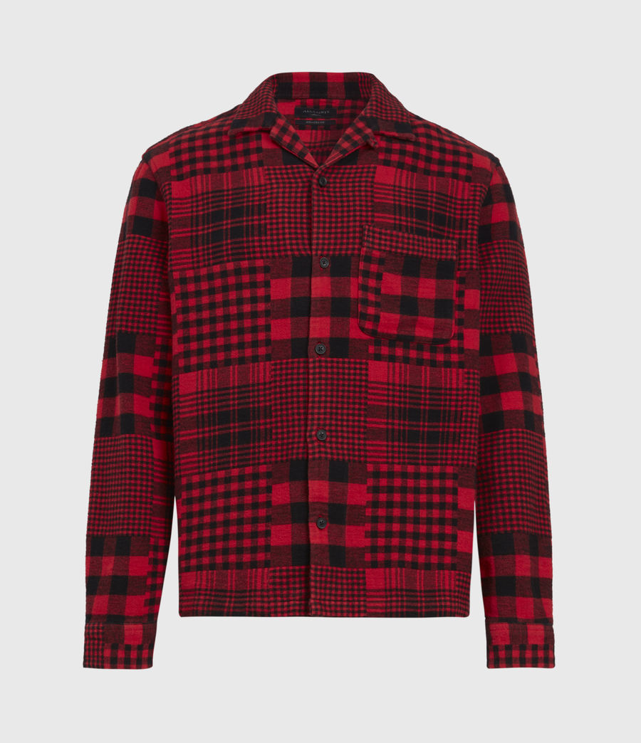 Mens Brucker Shirt (red_black) - Image 2
