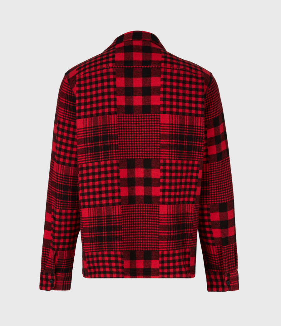 Mens Brucker Shirt (red_black) - Image 3