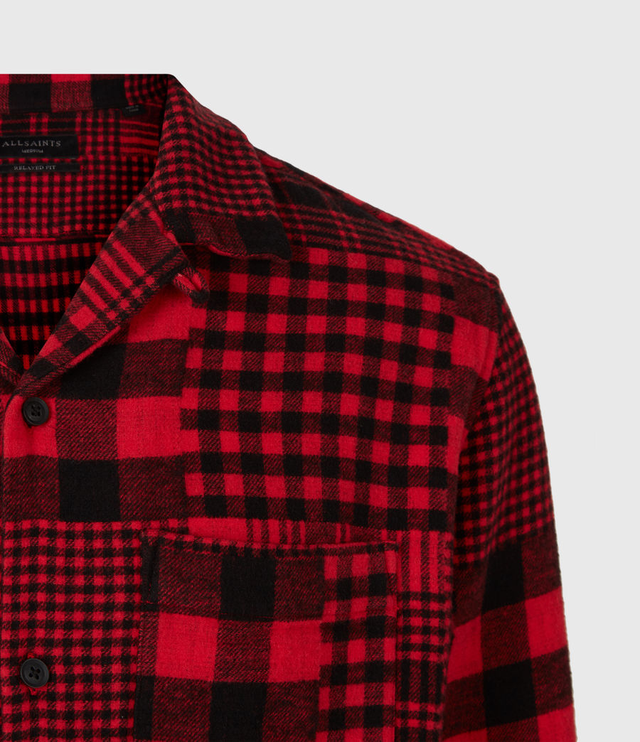 Mens Brucker Shirt (red_black) - Image 5