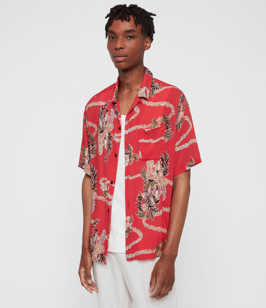 Mens Makalika Shirt (red) - Image 2