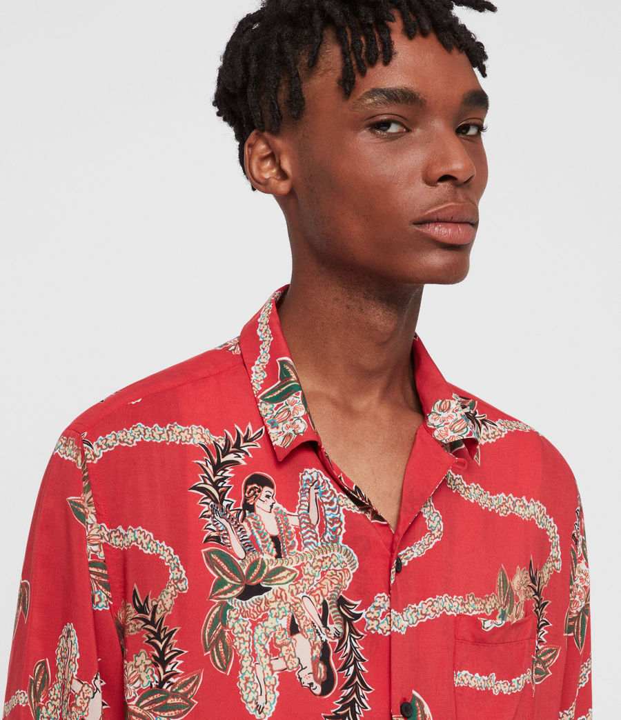 Mens Makalika Shirt (red) - Image 3
