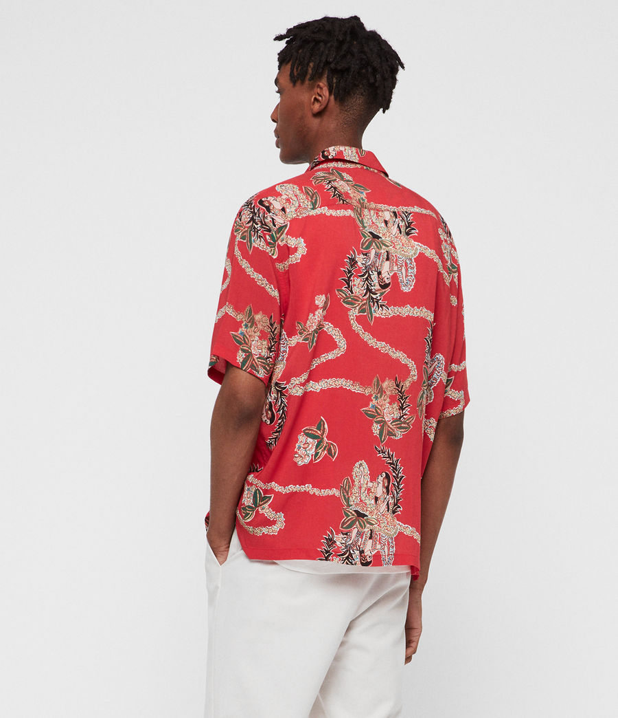 Mens Makalika Shirt (red) - Image 4