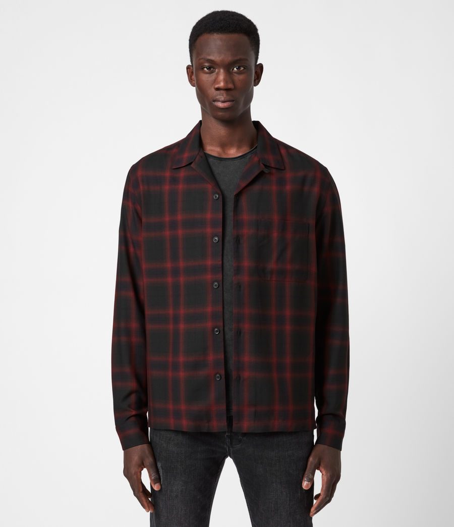Men's Westel Shirt (jet_black_red) - Image 1