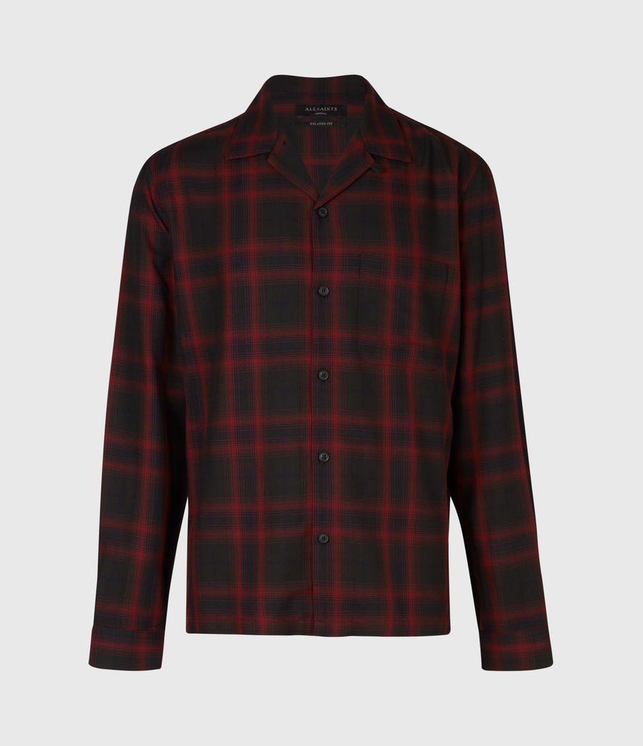 Men's Westel Shirt (jet_black_red) - Image 2