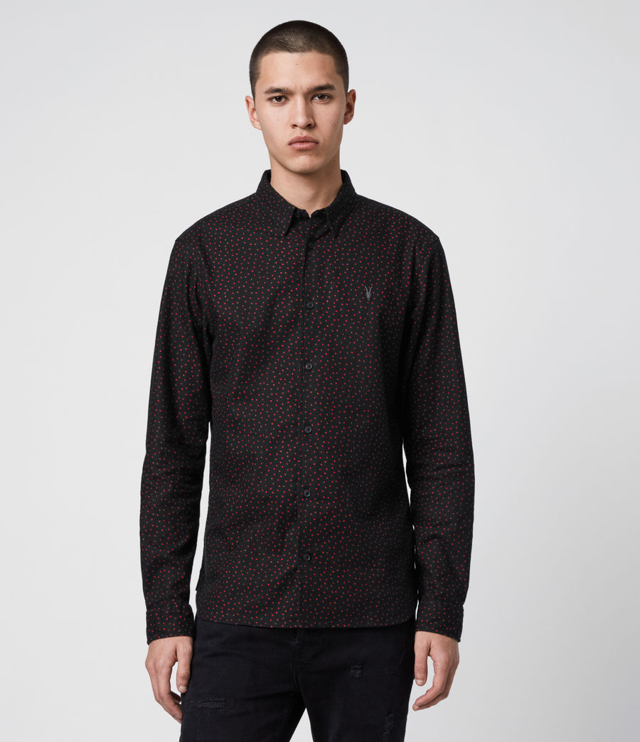 Mens Solar Shirt (jet_black_red) - Image 1