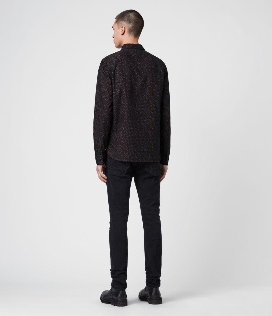 Mens Solar Shirt (jet_black_red) - Image 5