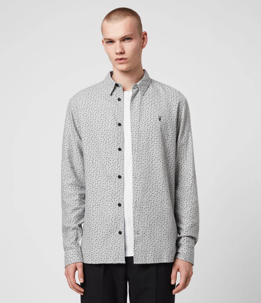 Hommes Chemise Flannel Manches Longues Solar (grey_marl_jet_blk) - Image 1