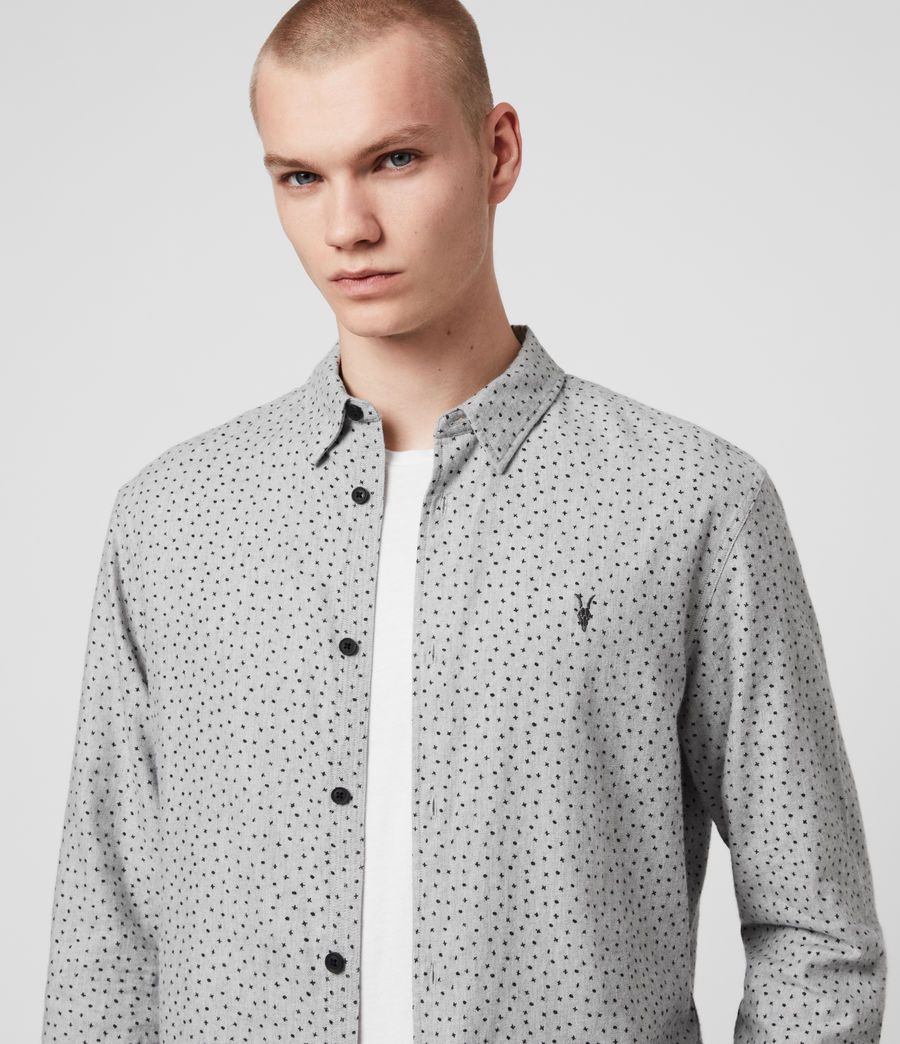 Hommes Chemise Flannel Manches Longues Solar (grey_marl_jet_blk) - Image 2