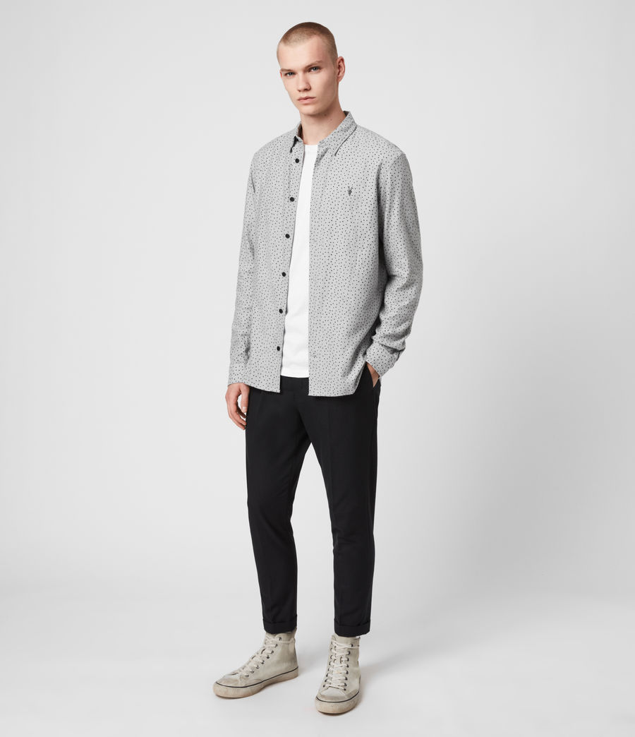 Hommes Chemise Flannel Manches Longues Solar (grey_marl_jet_blk) - Image 3