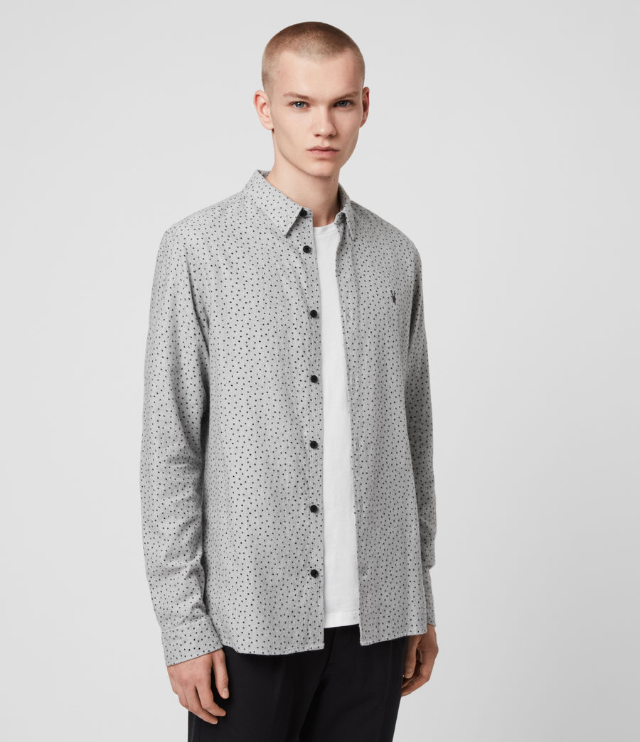 Hommes Chemise Flannel Manches Longues Solar (grey_marl_jet_blk) - Image 4