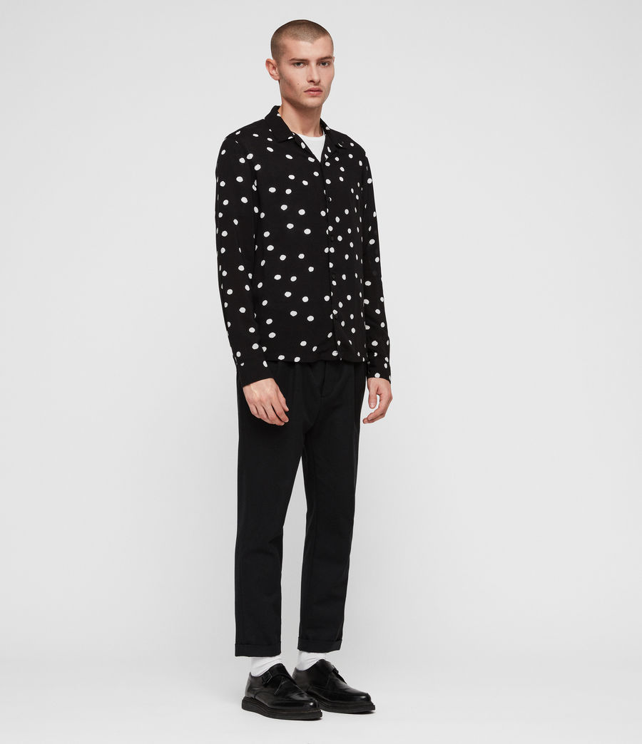 Men's Pozere Shirt (jet_black_ecru) - Image 3