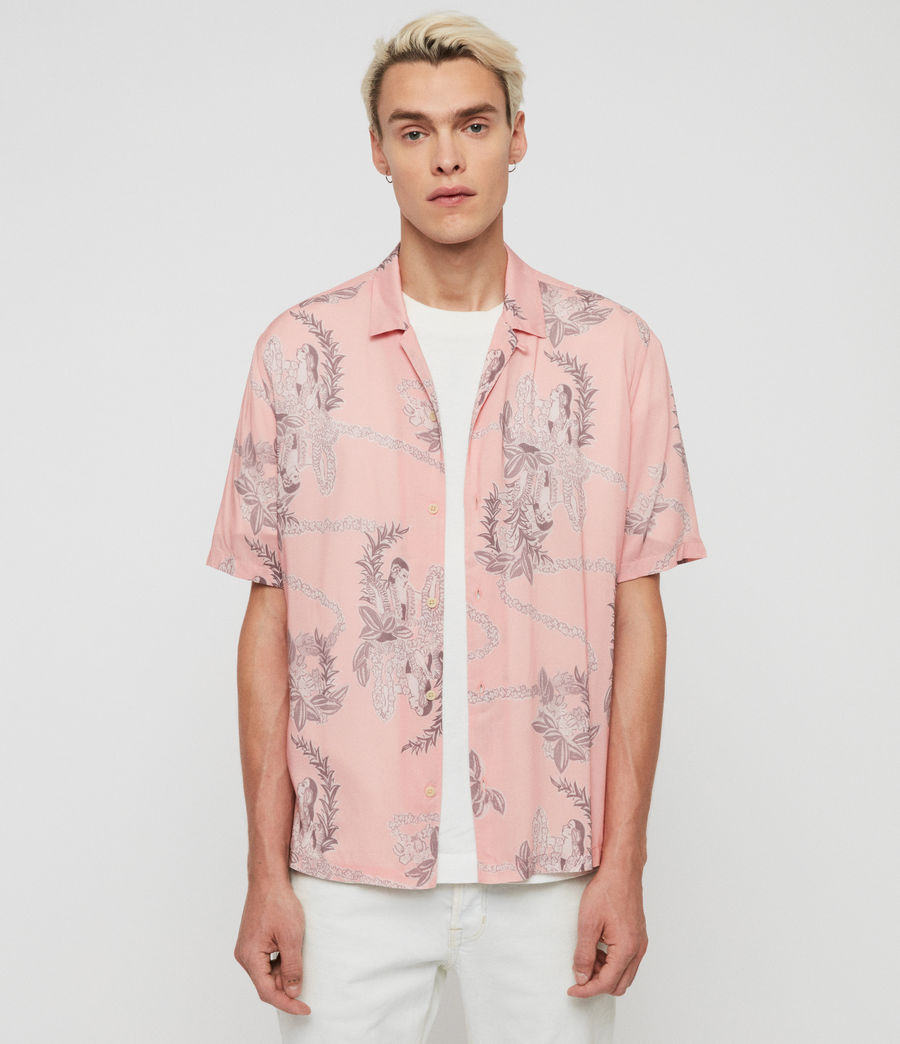 Mens Kumu Short Sleeve Shirt (pink) - Image 1