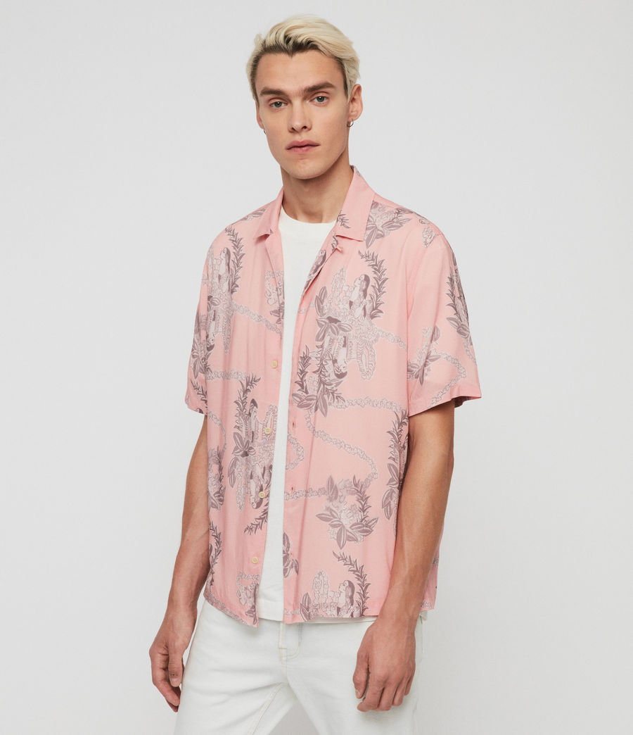 Mens Kumu Short Sleeve Shirt (pink) - Image 2
