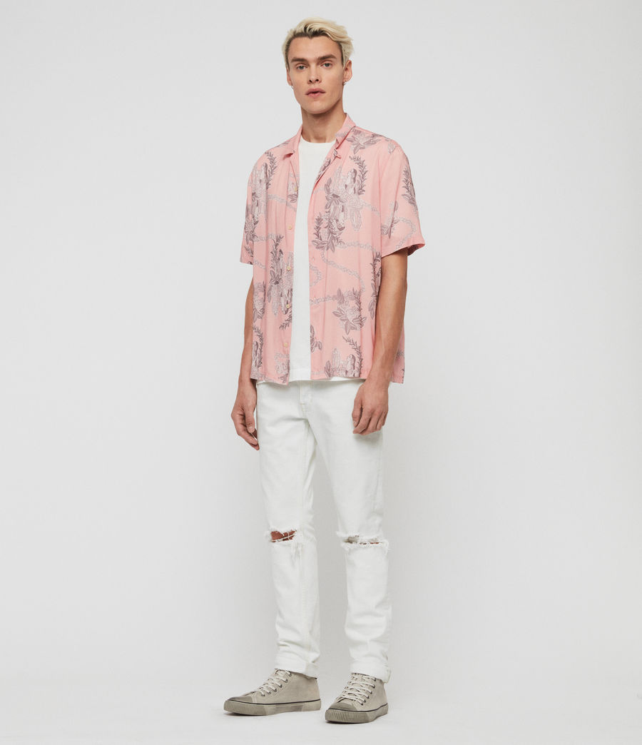 Men's Kumu Short Sleeve Shirt (pink) - Image 3