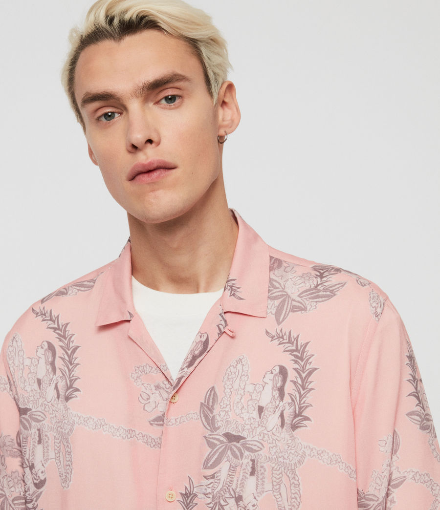 Mens Kumu Short Sleeve Shirt (pink) - Image 3