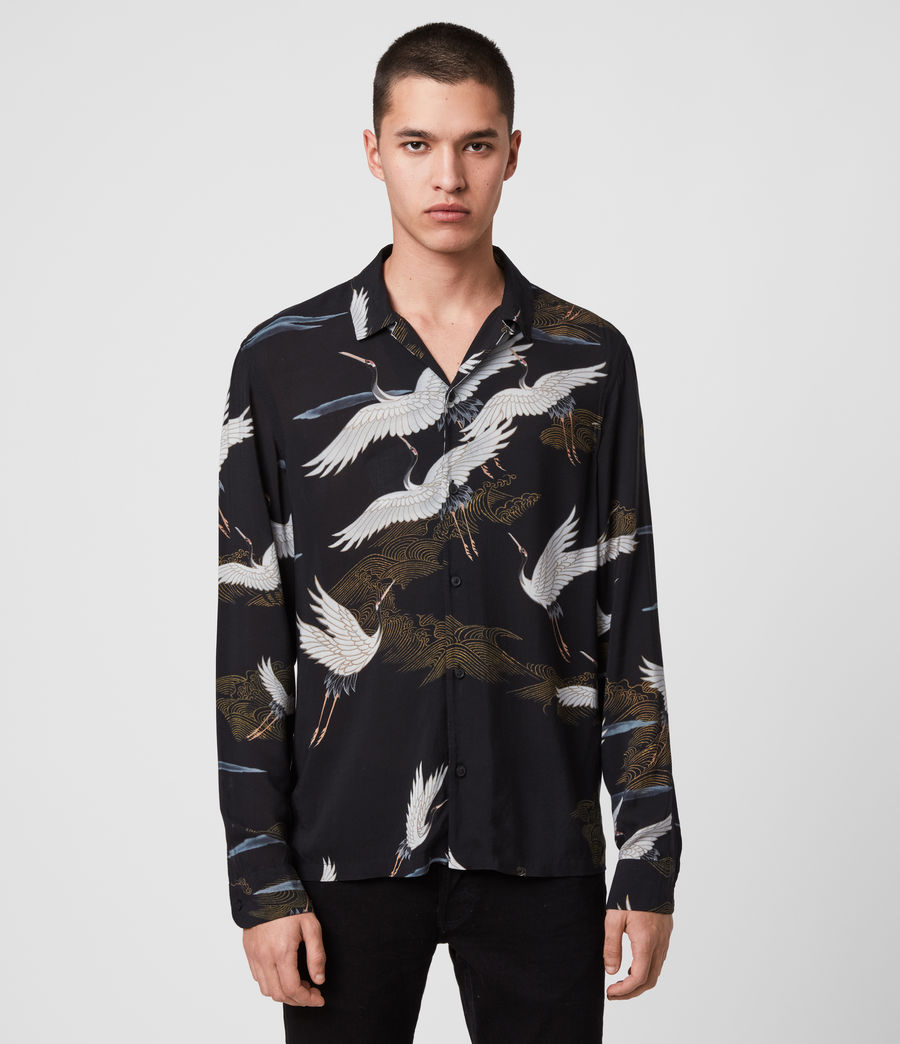 Mens Yonder Long Sleeve Shirt (jet_black) - Image 1