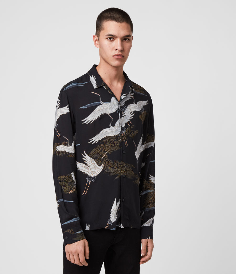 Mens Yonder Long Sleeve Shirt (jet_black) - Image 4