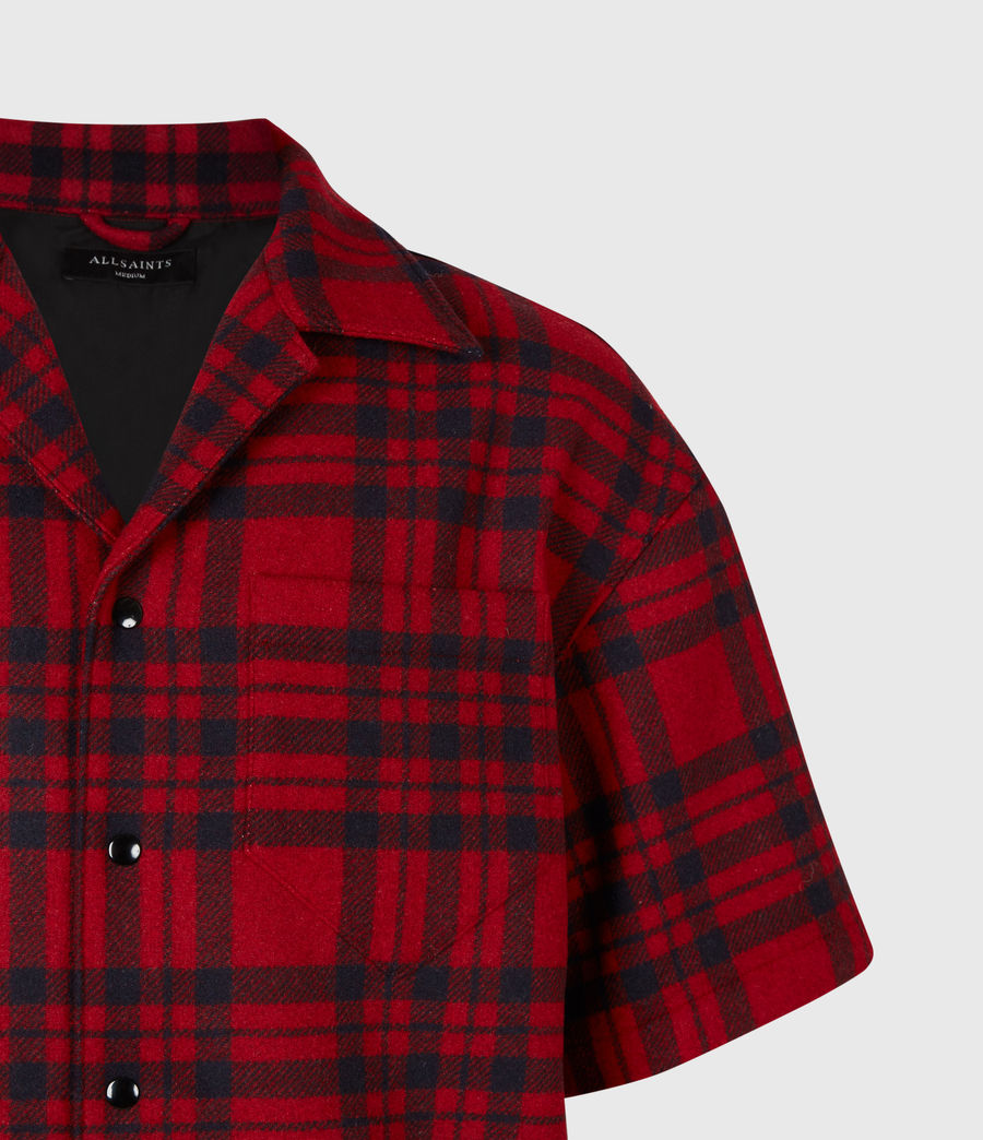 Mens Marley Shirt (red_black) - Image 5