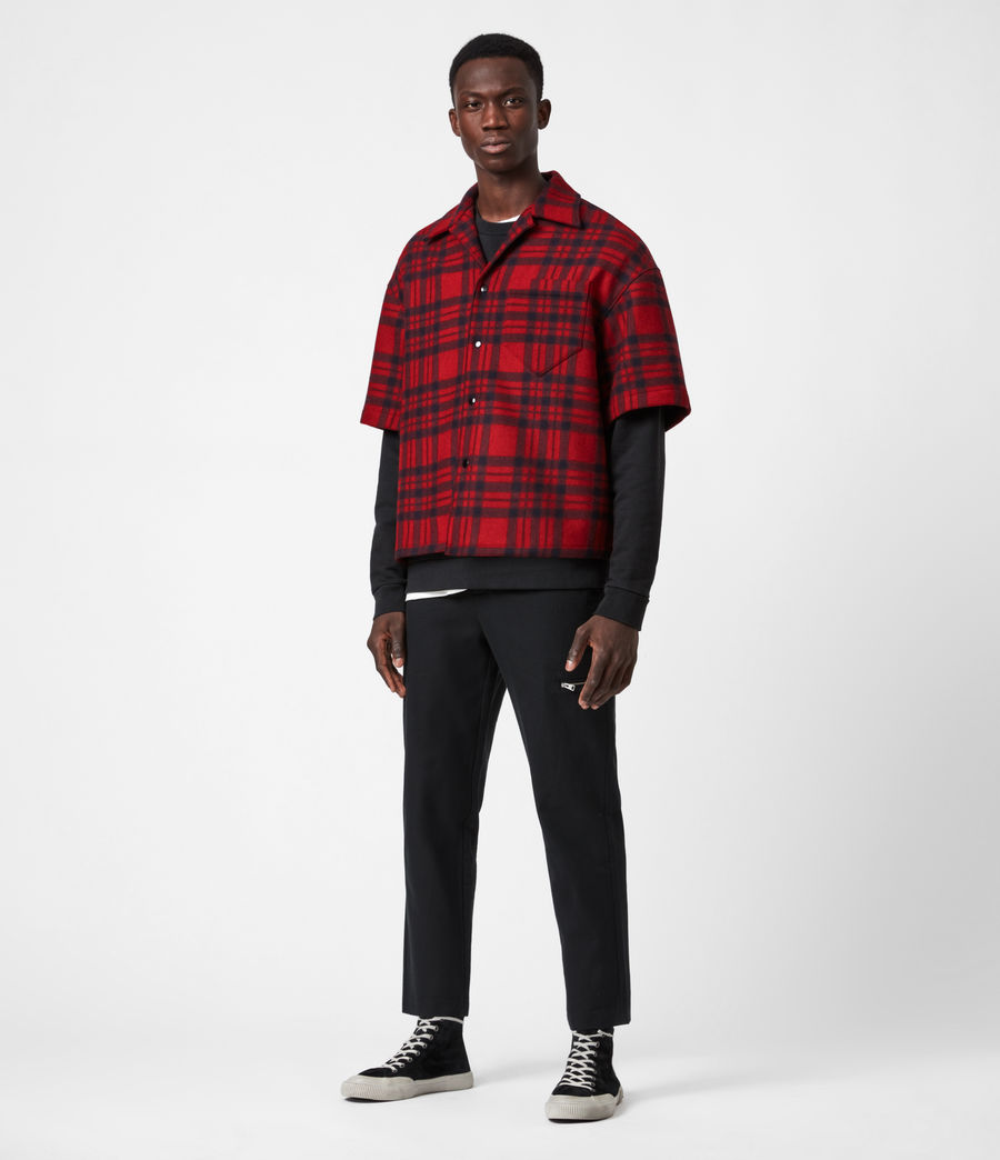 Mens Marley Shirt (red_black) - Image 6