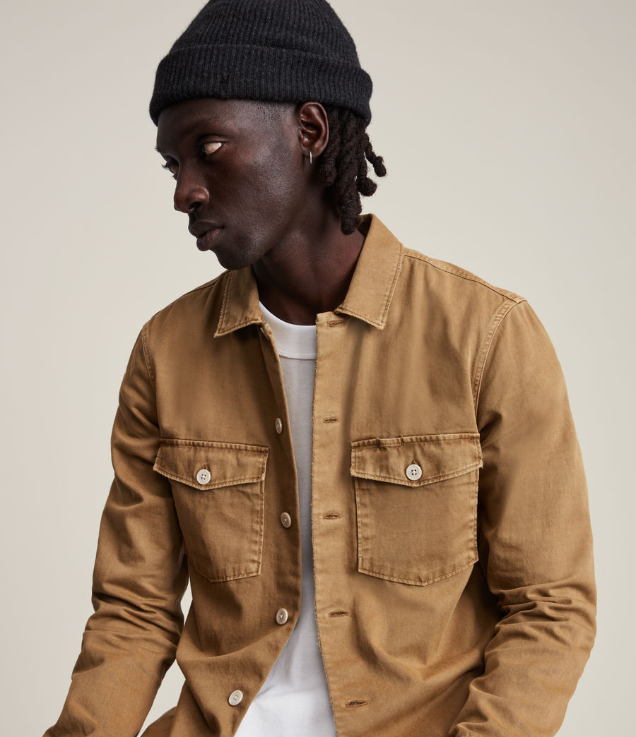 Mens Spotter Shirt (mocha_brown) - Image 2
