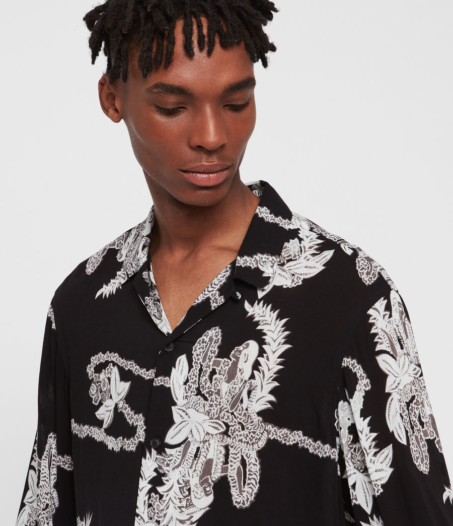 Men's Kumu Long Sleeve Shirt (jet_black) - Image 2