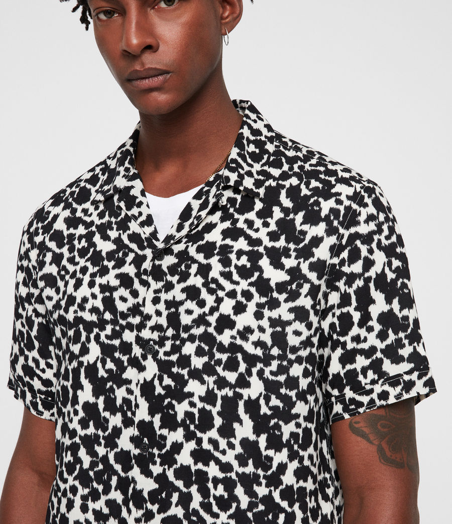 Mens Sigfried Shirt (ecru_white_black) - Image 2