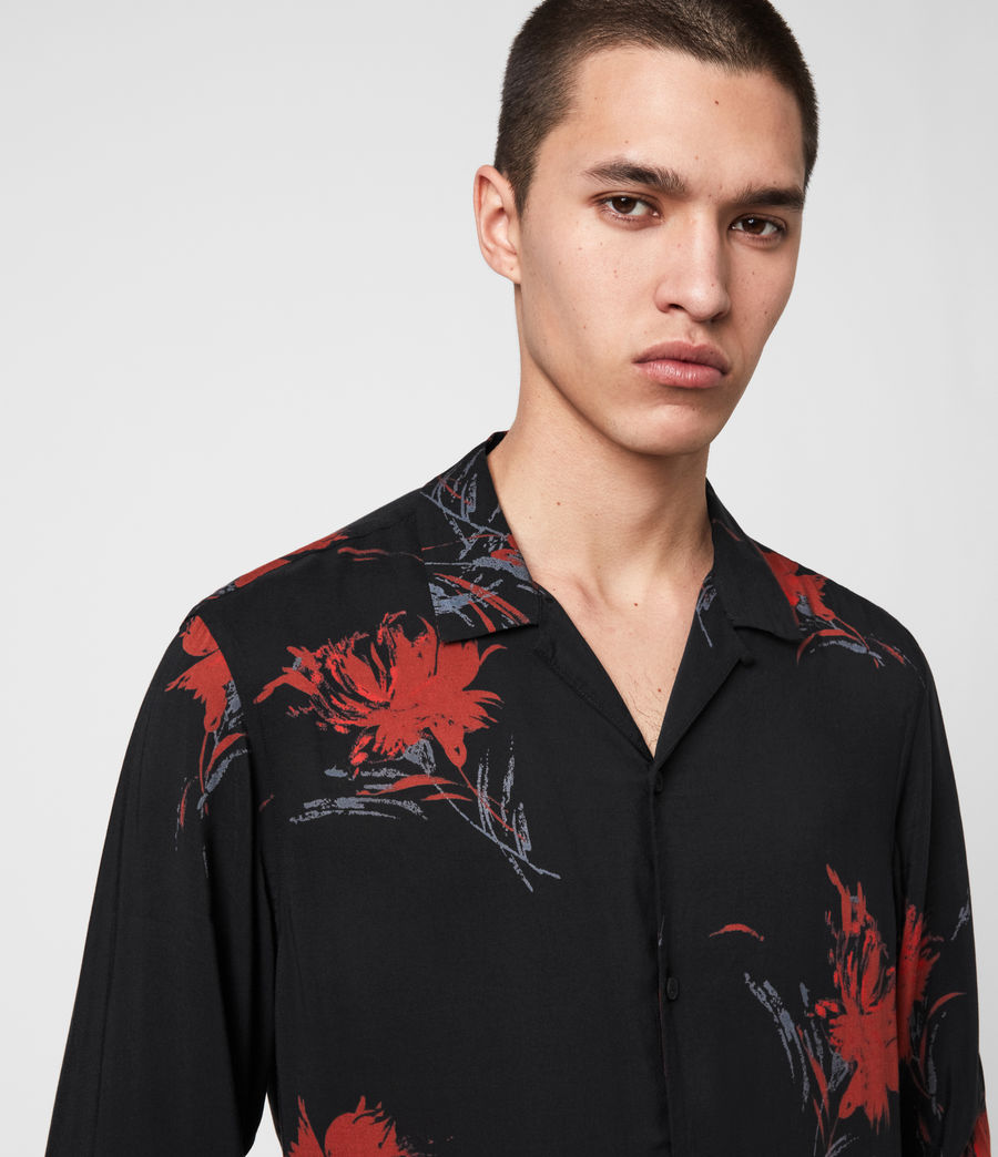 Men's Arboretum Shirt (jet_black_red) - Image 2